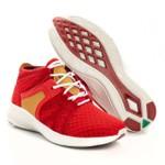 Tênis Sapatênis Top Franca Shoes Yezzi Vermelho / Amarelo