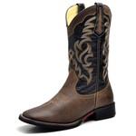 Bota Country Texana Top Franca Shoes Mustang Preto / Cafe