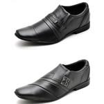 Kit 2 Pares Sapato Social Masculino Top Franca Shoes Preto