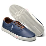 Kit 2 Pares Sapatênis Casual Top Franca Shoes Azul / Preto