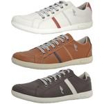 Kit 3 Pares Sapatênis Casual Top Franca Shoes Cinza / Camel / Café