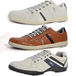 Kit 3 Pares Sapatênis Casual Top Franca Shoes Café / Camel