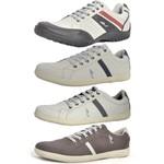 Kit 4 Pares Sapatênis Casual Top Franca Shoes Cinza / Café