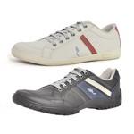 Kit 2 Pares Sapatênis Casual Top Franca Shoes Preto / Cinza