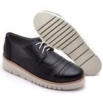 Sapato Oxford Feminino Sola Anabela Preto