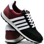 Tênis Sport Fit Top Franca Shoes Preto e Vinho