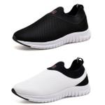 Kit 2 Tênis Masculino Esporte Fit Snap Shoes Preto / Branco
