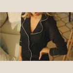Chemise Homewear c/ botões Preta