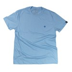 Camiseta Masc. Azul clara logo bordado royal
