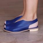 Sandália Salto Baixo Fly Azul Anil