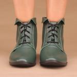 Bota Peter Pan Verde Militar- 240-06