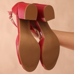 Peep Toe Vermelha- 908-06