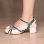 Sapato Boneca com Laser Pérola e Verde