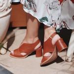 Sandália Salto Grosso Ferrugem- 177-20