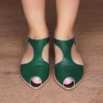 Sapatilha Bico Folha Verde