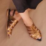 Sapatilha Bico Folha Bronze 901-01