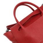Bolsa de Couro Legítimo Feminina Duas alças Síntese Vermelha