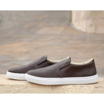 Slip On Veroope de Couro Café Diamante