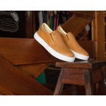 Slip On Veroope de Couro Whisky Diamante