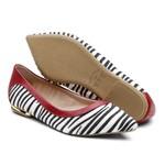 Sapatilha Violanta Africa Zebra Vermelho
