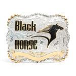 Fivela Sumetal - Black Horse