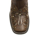 Bota Texana Feminina - Atlanta Café / Craquelê Bronze - Roper - Bico Quadrado - Cano Longo - Solado Freedom Flex - Vimar Boots - 13123-A-VR