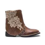 Bota Texana Feminina - Atlanta Havana / Firenze Havana - Roper - Bico Quadrado - Cano Dobrável - Solado VTS - Vimar Boots - 13132-A-VR