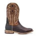 Bota Texana Masculina - Corrugado Café / Preto / Bambu - Roper - Bico Quadrado - Cano Médio - Solado TXS - Vimar Boots - 81271-A-VR