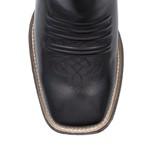 Bota Texana Masculina - Latego Preto / Caramelo - Roper - Bico Quadrado - Cano Médio - Solado TXS - Vimar Boots - 81284-A-VR