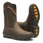 Bota Tênis Masculina - Crazy Horse Café - Work - Bico Redondo - Cano Médio - Solado West Country - Vimar Boots - 85007-A-VR