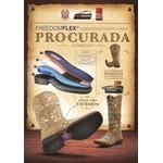 Bota Texana Feminina - Fóssil Sella / Craquelê Preto - Roper - Bico Quadrado - Cano Longo - Solado Freedom Flex - Vimar Boots - 13102-A-VR