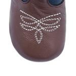 Bota Texana Baby - Fly Havana / Marinho - Solado Bolha Natural - Bico Redondo - Cano Longo - West Country - WCB-1001-D