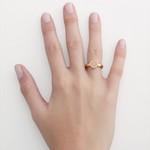 Anel redondo em ouro 18k amarelo com Diamante sintético