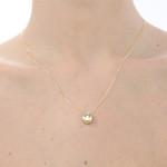 Pingente de carinha menina em ouro 18K amarelo, branco