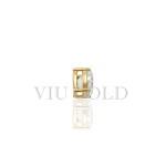 Pingente ponto de luz com 1 diamante sintético (zircônia) em ouro 18k amarelo