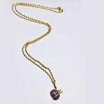 Gargantilha em ouro 18K - Joaninha na corrente bailarina com diamantes sintéticos