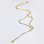 Gargantilha em ouro 18 k com perolas na corrente bailarina