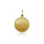 Pingente Medalha de São bento em ouro 18k