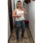 CALÇA FEMININA LOOPPER JEANS DESFIADO NA BARRA