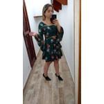 VESTIDO FEMININO VERDE MANGA LONGA XADREZ