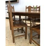 Conjunto Com 2 Cadeiras 2002 Castanho - Móveis 3B