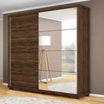 Guarda Roupa Casal 2 Portas Com Espelho Las Vegas Jacaranda - Robel Móveis