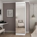 Sapateira Esmeralda 1 Porta Com Espelho Branca - Gelius Móveis