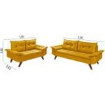 Conjunto Sofá Bariloche 2 e 3 Lugares Essencial Estofados Amarelo