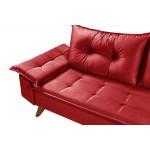 Conjunto Sofá Bariloche 2 e 3 Lugares Essencial Estofados Vermelho