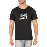 Camiseta Masculina Act Footwear - Preto