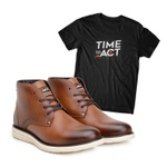 Bota ACT Classic Shadow + Camiseta Preto