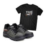 Bota ACT Explorer Cinza + Camiseta Preto