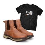 Bota Farmer Act Whisky + Camiseta Preta