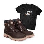 Bota ACT Second Shift Café + Camiseta Preto